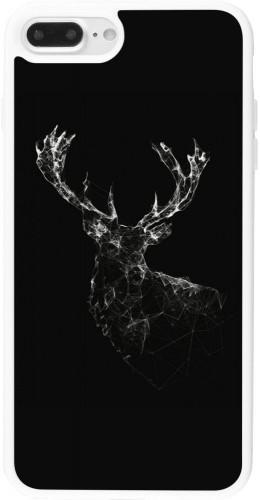 Coque iPhone 7 Plus / 8 Plus - Silicone rigide blanc Abstract deer
