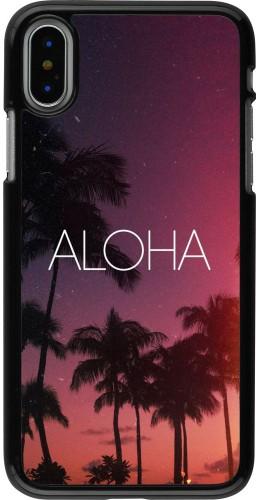 Coque iPhone X / Xs - Aloha Sunset Palms