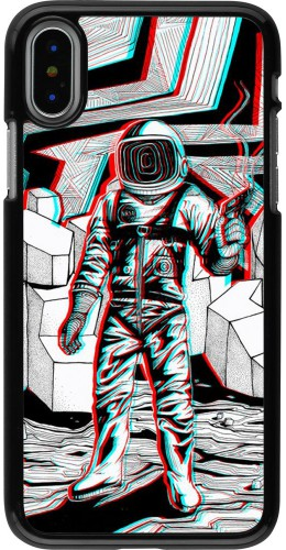 Coque iPhone X / Xs - Anaglyph Astronaut