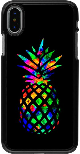 Coque iPhone X / Xs - Ananas Multi-colors