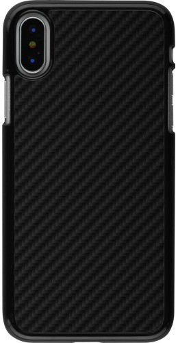 Coque iPhone X / Xs - Carbon Basic