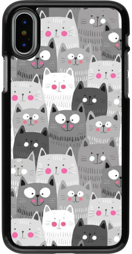 Coque iPhone X / Xs - Chats gris troupeau