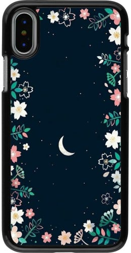 Coque iPhone X / Xs - Flowers space