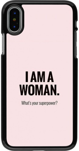 Coque iPhone X / Xs - I am a woman