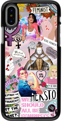 Coque iPhone X / Xs - Girl Power Collage