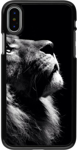 Coque iPhone X / Xs - Lion looking up