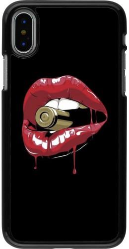Coque iPhone X / Xs - Lips bullet