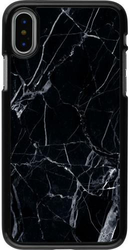 Coque iPhone X - Marble Black 01