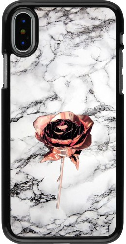 Coque iPhone X / Xs - Marble Rose Gold