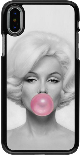 Coque iPhone X / Xs - Marilyn Bubble