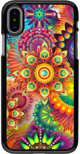 Coque iPhone X / Xs - Multicolor aztec