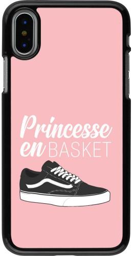 Coque iPhone X / Xs - princesse en basket