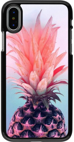 Coque iPhone X / Xs - Purple Pink Pineapple