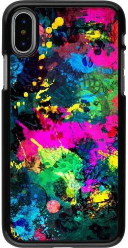 Coque iPhone X / Xs - splash paint