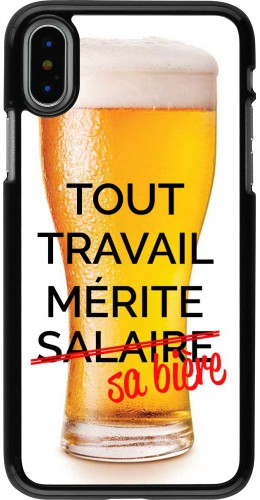 Coque iPhone X / Xs - Tout travail mérite sa bière