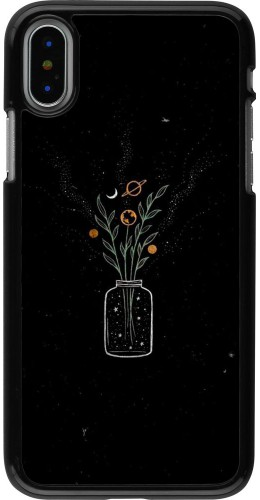 Coque iPhone X / Xs - Vase black
