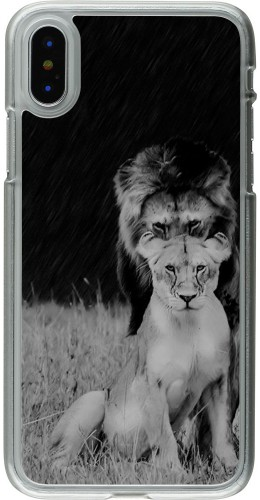 Coque iPhone X / Xs - Plastique transparent Angry lions