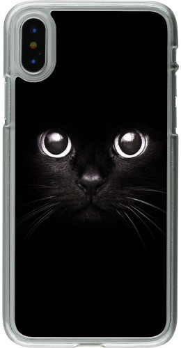 Coque iPhone X - Plastique transparent Cat eyes