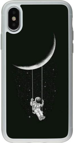 Coque iPhone X / Xs - Silicone rigide transparent Astro balançoire
