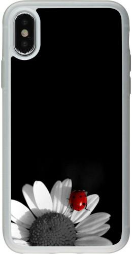 Coque iPhone X / Xs - Silicone rigide transparent Black and white Cox