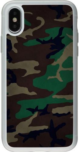Coque iPhone X / Xs - Silicone rigide transparent Camouflage 3