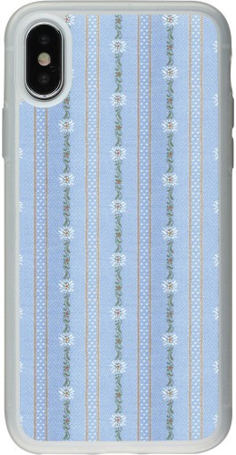 Coque iPhone X / Xs - Silicone rigide transparent Edelweiss