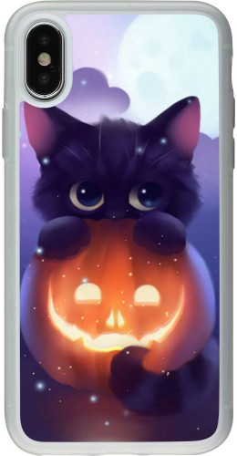 Coque iPhone X / Xs - Silicone rigide transparent Halloween 17 15