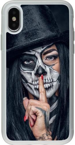 Coque iPhone X / Xs - Silicone rigide transparent Halloween 18 19
