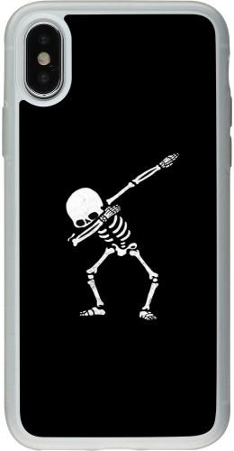 Coque iPhone X / Xs - Silicone rigide transparent Halloween 19 09