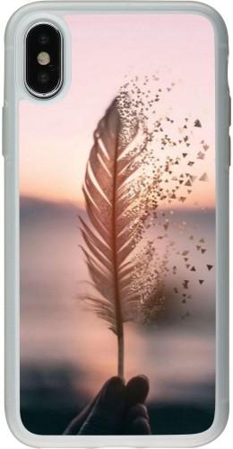Coque iPhone X / Xs - Silicone rigide transparent Hello September 11 19
