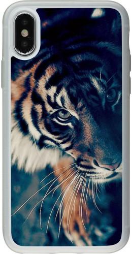 Coque iPhone X / Xs - Silicone rigide transparent Incredible Lion