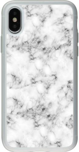 Coque iPhone X / Xs - Silicone rigide transparent Marble 01
