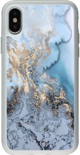 Coque iPhone X / Xs - Silicone rigide transparent Marble 04