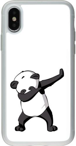 Coque iPhone X / Xs - Silicone rigide transparent PanDab