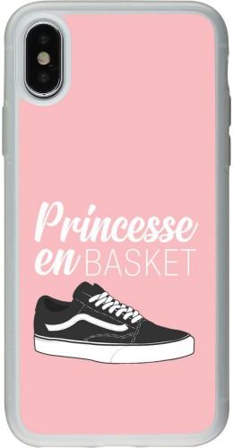 Coque iPhone X / Xs - Silicone rigide transparent princesse en basket