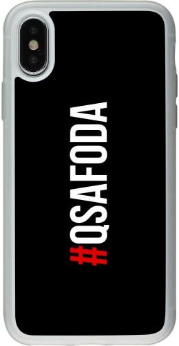 Coque iPhone X / Xs - Silicone rigide transparent Qsafoda 1