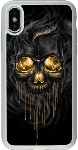 Coque iPhone X / Xs - Silicone rigide transparent Skull 02