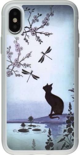 Coque iPhone X / Xs - Silicone rigide transparent Spring 19 12