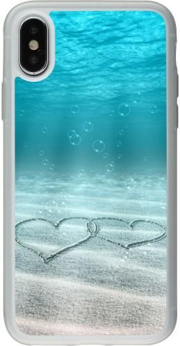 Coque iPhone X / Xs - Silicone rigide transparent Summer 18 19