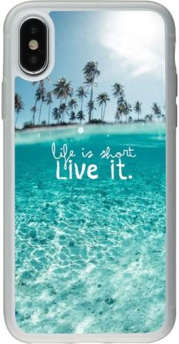 Coque iPhone X / Xs - Silicone rigide transparent Summer 18 24