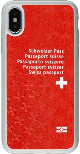 Coque iPhone X / Xs - Silicone rigide transparent Swiss Passport
