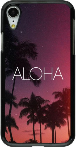 Coque iPhone XR - Aloha Sunset Palms