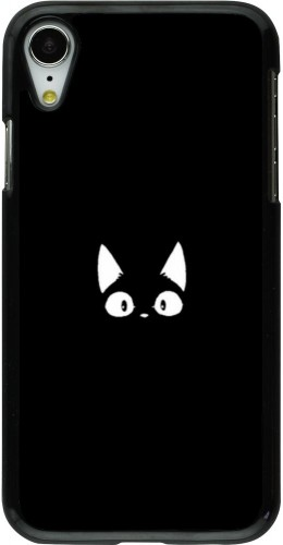 Coque iPhone XR - Funny cat on black