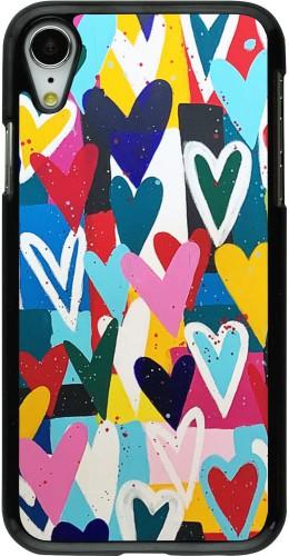 Coque iPhone XR - Joyful Hearts