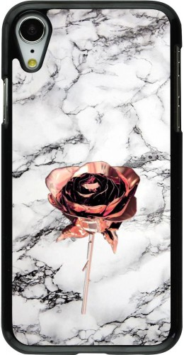 Coque iPhone XR - Marble Rose Gold