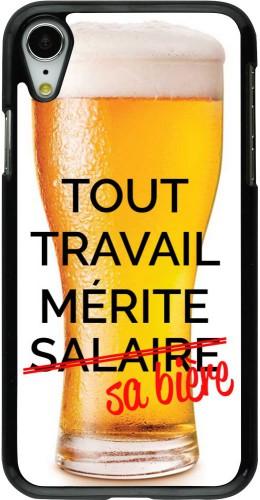 Coque iPhone XR - Tout travail mérite sa bière