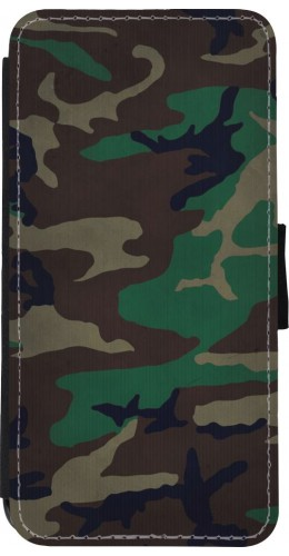 Coque iPhone XR - Wallet noir Camouflage 3