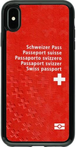 Coque iPhone Xs Max - Hybrid Armor noir Swiss Passport