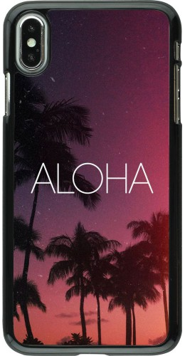Coque iPhone Xs Max - Aloha Sunset Palms
