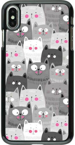 Coque iPhone Xs Max - Chats gris troupeau